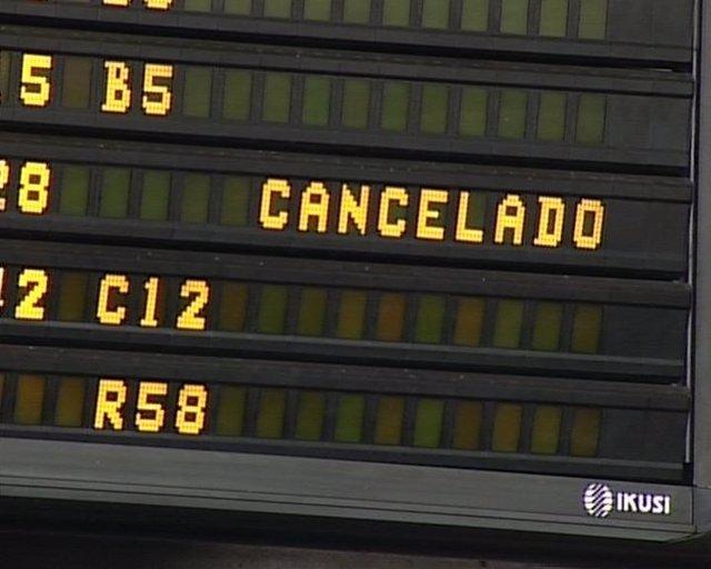 Vuelos cancelados en el aeropuerto