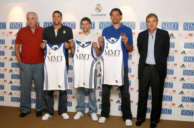 Felipe Reyes, Sergio Llull y Jorge Garbajosa