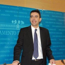 Mario Jiménez, portavoz del grupo socialista en el Parlamento andaluz