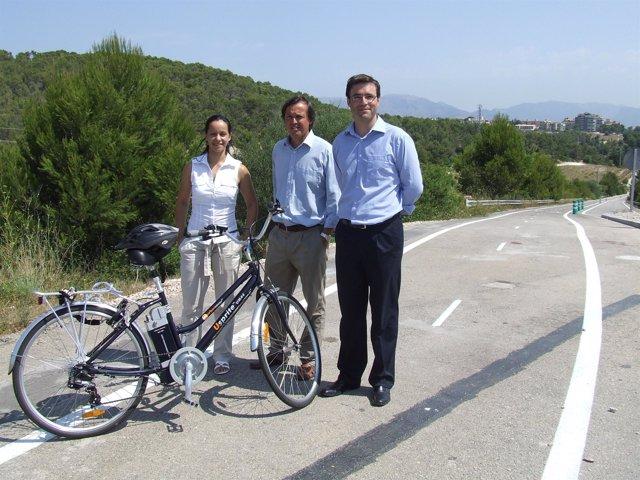 José Hila, presentación carril bici