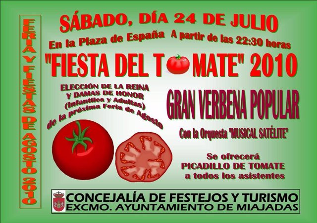 Cartel de la Fiesta del Tomate