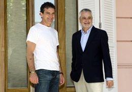 José Antonio Griñán y Antonio Banderas