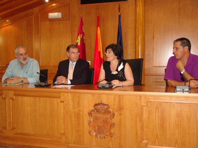 Visita del Defensor del Pueblo de la Región de Murcia a Pliego