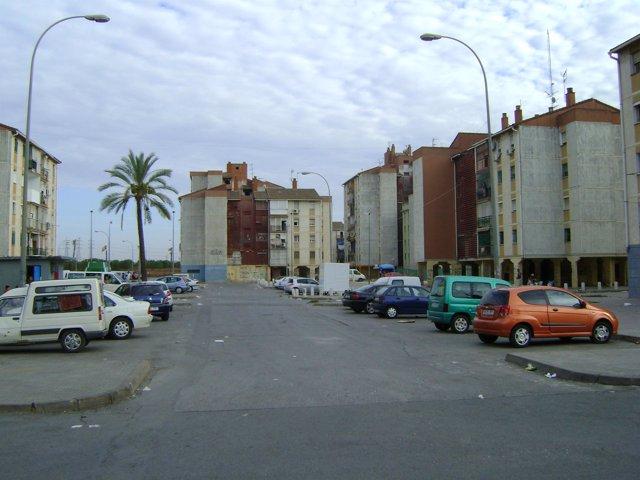 Una calle del Polígono Sur.