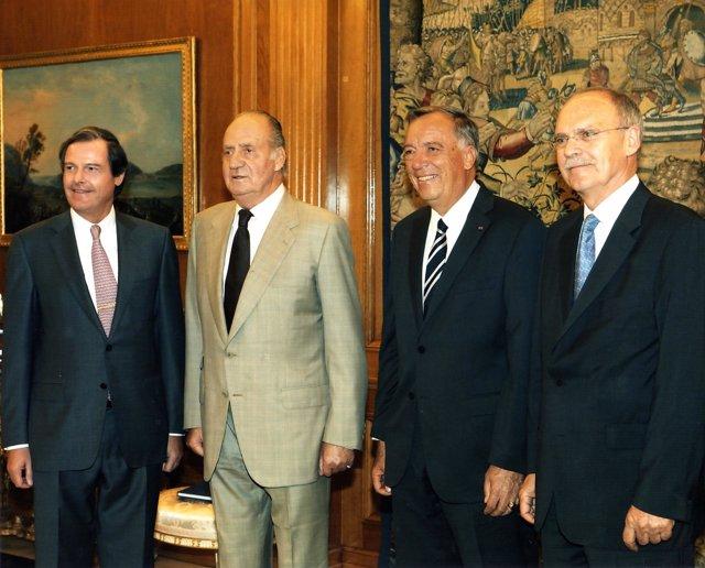 El Rey recibe a la Cámara de Comercio alemana