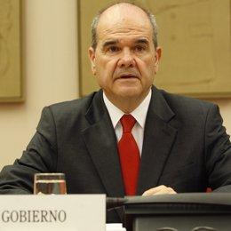Vicepresidente tercero y ministro de Política Territorial, Manuel Chaves,