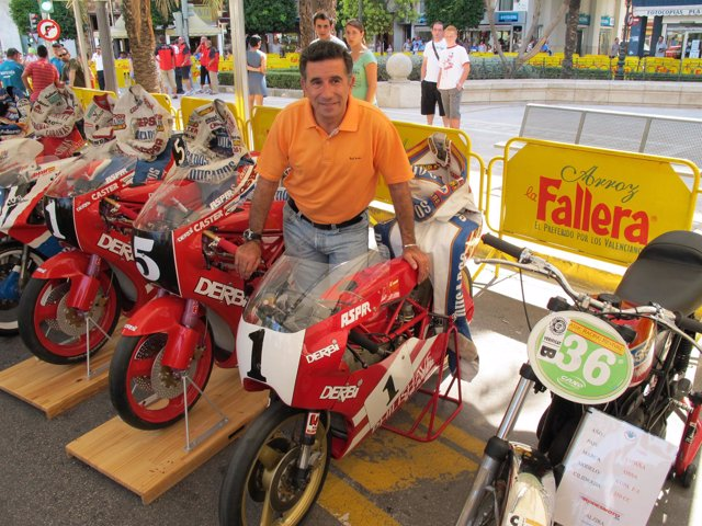 Jorge Martínez Aspar durante la exhibición en Alzira (Valencia)