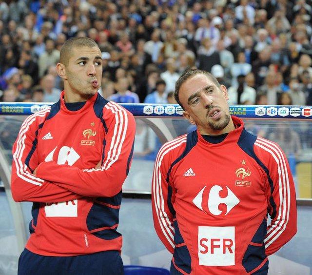 Benzema y Ribéry, imputados