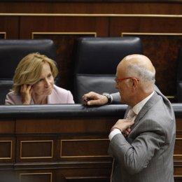 Salgado y Duran hablan en el Congreso