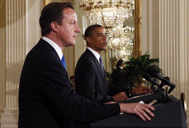 Obama y Cameron juntos y unidos