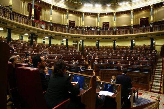 Plano general del hemiciclo del Congreso de los Diputados