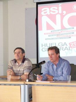 'Lito' y Pedro Hojas durante la asamblea de Valladolid