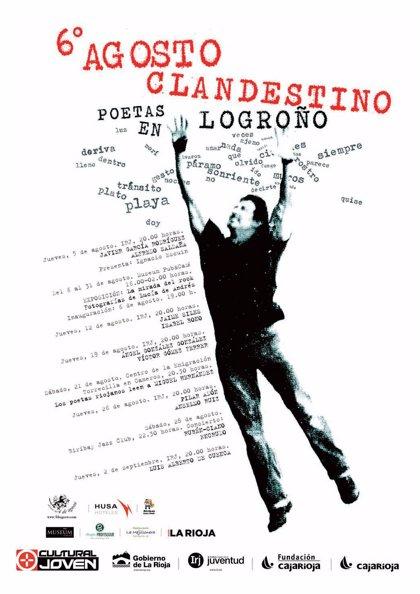 """Poetas de """"primer nivel nacional"""" se darán cita en el sexto festival 'Agosto Clandestino' que comienza el 5 de agosto"""