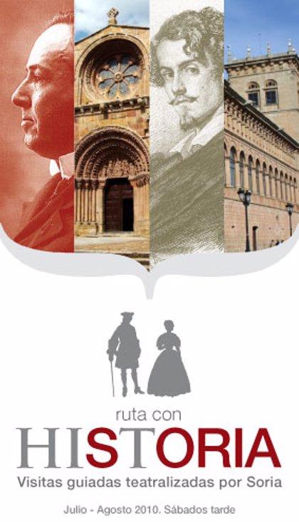 'Rutas con Historia' da a conocer desde hoy el pasado de Soria mediante recorridos teatralizados por la ciudad