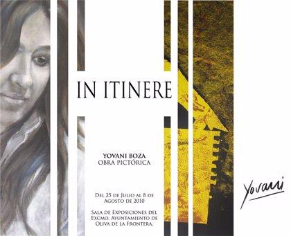 El pintor de Oliva de la Frontera Yovani Boza inaugura el domingo una exposición de 33 obras en su localidad