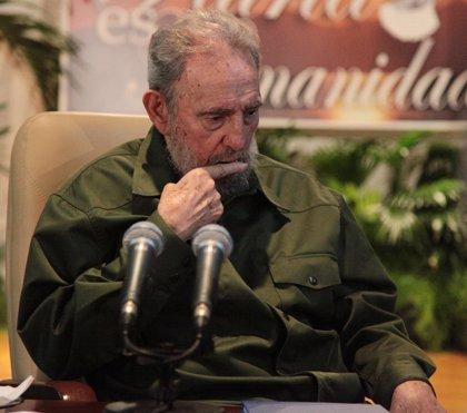 Cuba.- Fidel Castro reaparece otra vez en público en un acto con intelectuales y activistas de EEUU