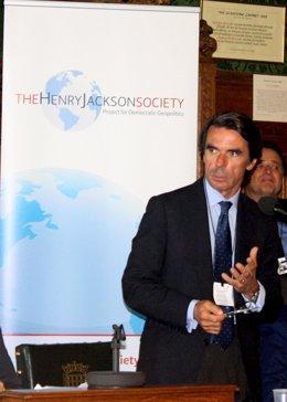 Aznar en la presentación de 'Friends of Israel'