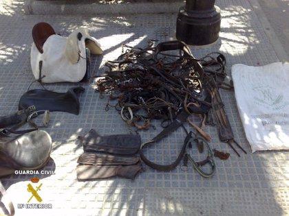 Dos detenidos por robar material ecuestre valorado en 8.000 euros en una finca de Lucena del Puerto