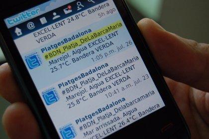 Badalona utiliza el Twitter para informar del estado de sus playas