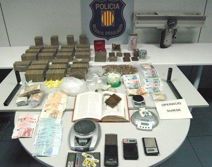 Detenidas 16 personas en una operación contra el tráfico de drogas en el Bages (Barcelona)