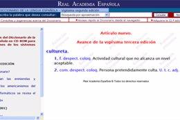 La palabra 'cultureta' ya aparece en el diccionario de la RAE en la red