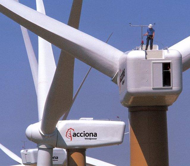 Instalaciones eólicas de Acciona