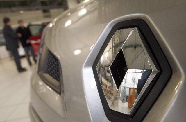Primer plano del concesionario Renault