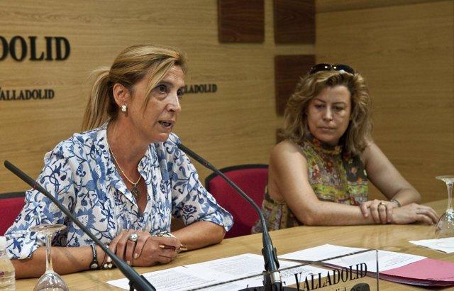 La alcaldesa de Tordesillas, Marlines Zarzuelo, en la Diputación de Valladolid