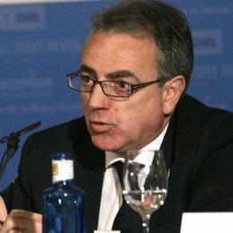 Miguel Sanz en un encuentro financiero