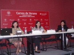 La directora del Instituto de la Mujer durante su intervención en los cursos de