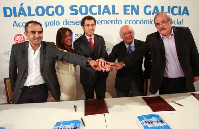Gómez, Mato, Feijóo, Fontenla y Sánchez Aguión, de izq a drcha