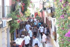 Michelle Obama revoluciona el centro de Marbella