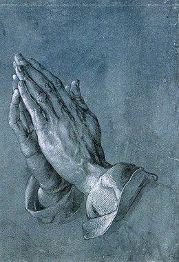 Manos en oración, cuadro de Alberto Durero.