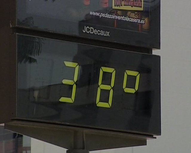 Termómetro que marca altas temperaturas