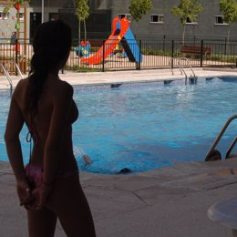 Recurso de calor en una piscina