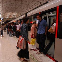Estación de metro en Bilbao