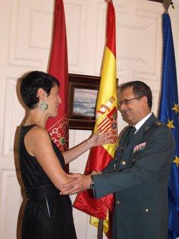 Elma Sáiz con Benito Salcedo.