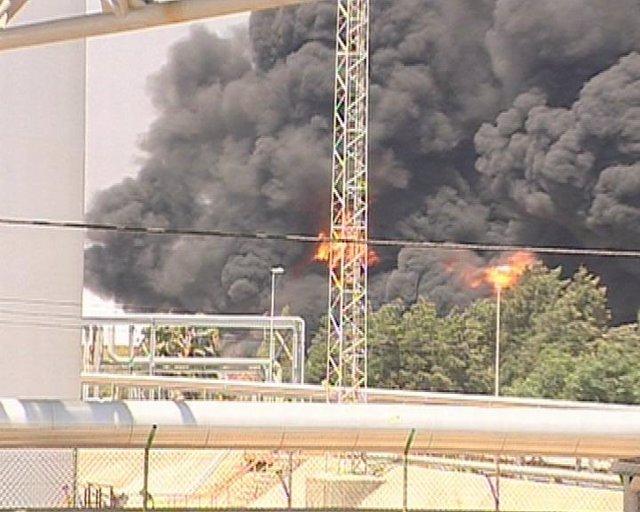 Accidente en refinería de Cepsa en La Rábida (Huelva)