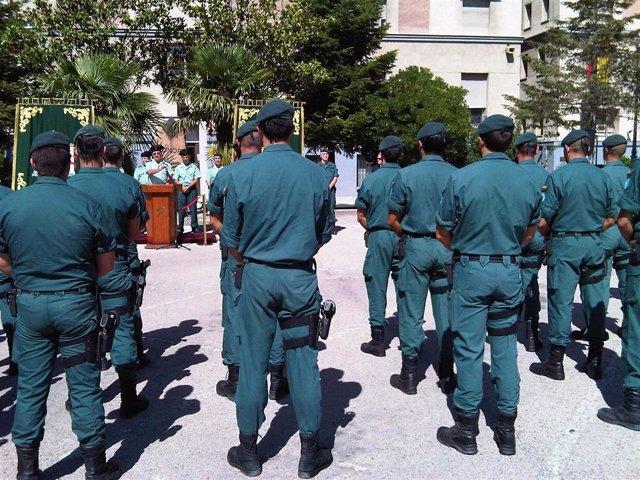 Guardias Civiles tras volver de Haití