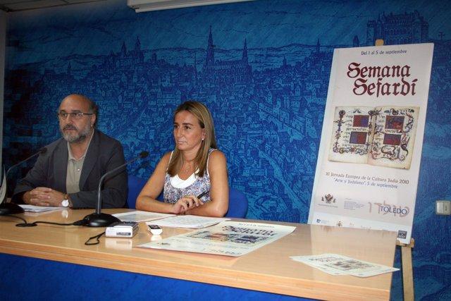 La edil de Turismo durante la presentación de la Semana Sefardí