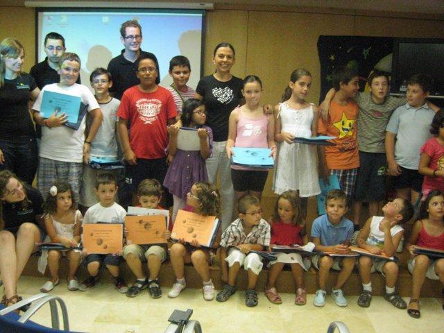 Participantes en la escuela