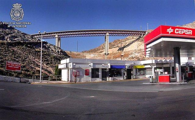 Imagen de uno de los atracos en la provincia almeriense