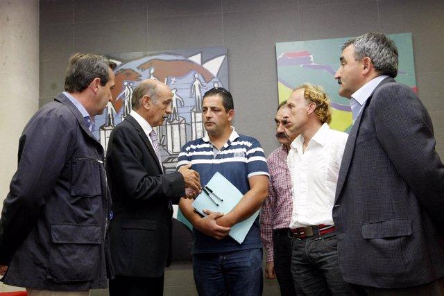 José María Mazón y algunos afectados por el PSIR del Bojar