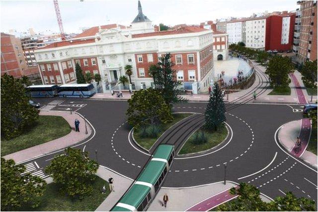 Recreación Del Tranvía En León
