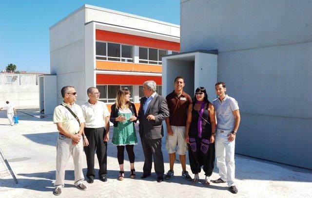 Gómez de Diego en la visita al colegio