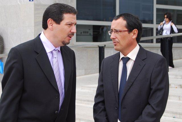 Dionisi Muñoz y Mustafa Aberchán, líderes del PSOE y del CpM en Melilla