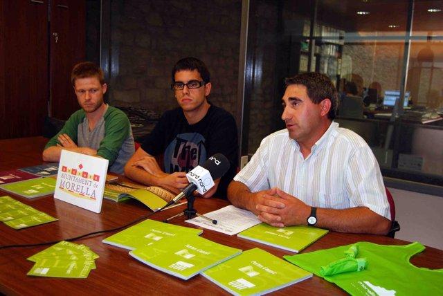 Presentación del libro de fistas de Morella y las bolsas ecológicas
