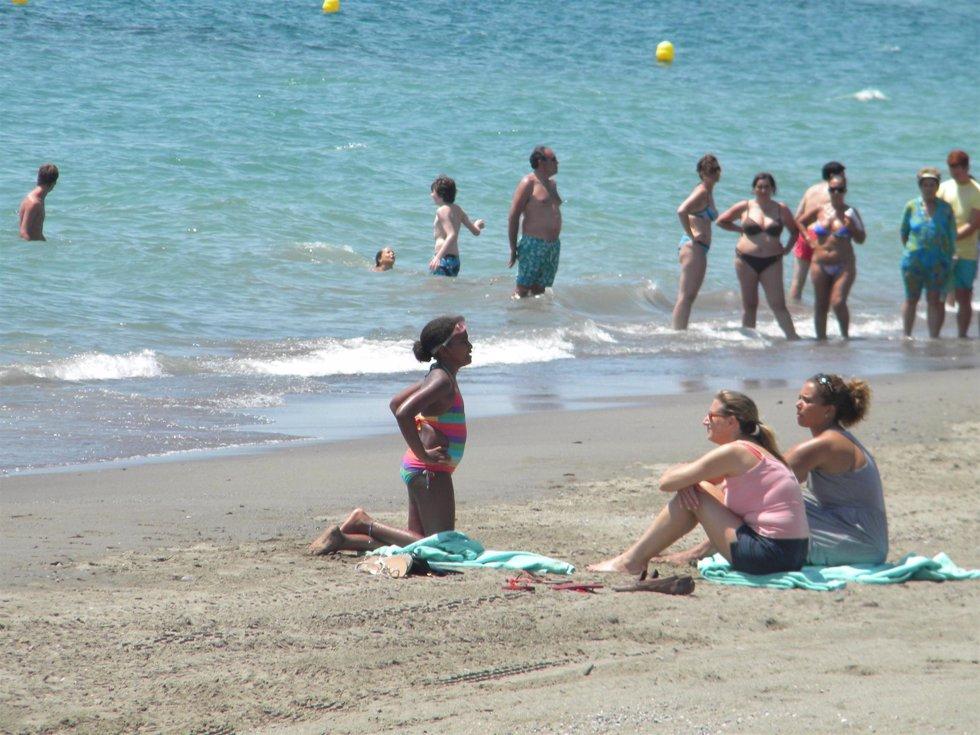 Sasha en la playa de Estepona