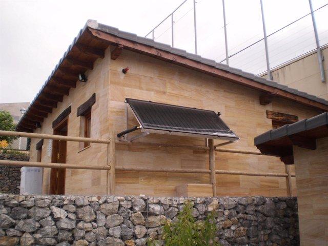 Instalación solar térmica en los huertos sostenibles