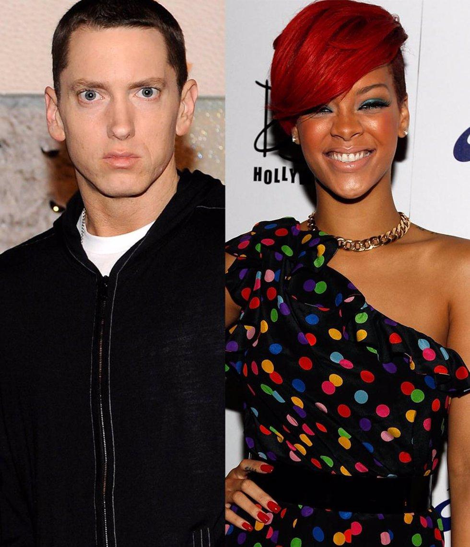 Montaje del rapero Eminem y la cantante Rihanna